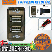 Dual Port USB Car Charger Toyota Rocker Switch Prado 120 Hilux Landcruiser 75-79