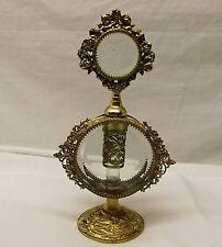 Vtg Gilt Ormolu Perfume Bottle Dabber Beveled Glass Cherub Cupid Ornate Dauber