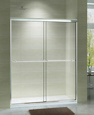 "ART OF BATH 56""-60"" x 75"" SEMI-FRAMELESS SLIDING SHOWER DOOR, 5/16 CLEAR GLASS"