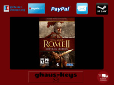 Total War ROME II - Emperor Edition Steam Key Pc Game Code Neu Blitzversand