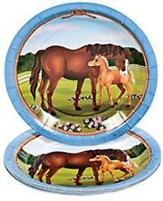 32PC HORSE PONY BIRTHDAY PARTY PLATES and NAPKINS for 16 Guests COWGIRL MARE