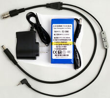 "12 Pin Hirose Y-cable for Panasonic AF100 + 6800mAh battery Power 2/3"" B4 lens"
