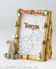 Tuskers - Happy Birthday - Photo Frame w Money Bank,, BNIB gift CA07046 Elephant