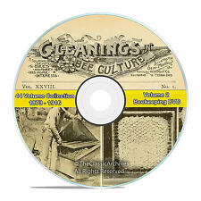 Gleanings of Bee Culture, 44 Volume 1873-1916, Honey Beekeeping Journal DVD-V58