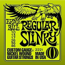 Ernie Ball 2221 Regular Cuerdas Guitarra Eléctrica Furtivo 10-46 GB VENDEDOR