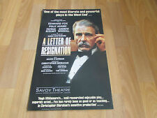 Letter of RESIGNATION  Edward Fox  & Polly Adams  SAVOY Theatre Original  Poster