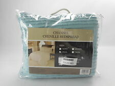 Beatrice Home Fashions CHNBSPFUBLU - Channel Chenille Bedspread - Full - Blue