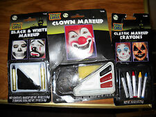 CRAYON MAKEUP LOT HALLOWEEN COSTUME TOTALLY GHOUL GOTHIC CLOWN CLASSIC