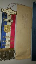 UNIQUE SOCIETE DES ARTISANS RIBBON BADGE MEDAL CANADA FRANCE 2ER COM ORDONNATEUR