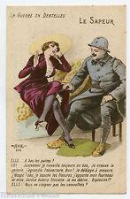 WW1 . Charme . POILU . LA GUERRE EN DENTELLES . Military charm . LE SAPEUR .