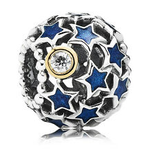 Original PANDORA Bicolor Element 791371CZ Charm Nachthimmel