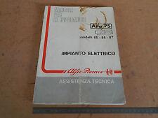 MANUALE OFFICINA ORIGINALE ALFA ROMEO 75 IMPIANTO ELETTRICO STAMPA 11/88