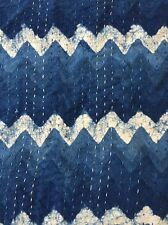Beautiful Indigo Handmade Hand Dyed Anokhi Embroidered Cotton Bedcover