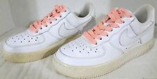 Nike Air Force 1 Women's Sneakers, White w pink laces, #315115-112, US Size 6.5
