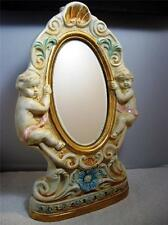 Vintage Shabby Cherub Angels Borghini Mirror Dessert Wine Liquor Bar Decanter