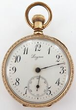 ANTIQUE 14K GOLD LONGINES MID SIZE POCKET WATCH, WORKING, TICKING STRONGLY.
