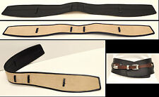 Rock & Republic DETACHABLE LEATHER BELT PANEL Black MEDIUM Italian Leather NEW