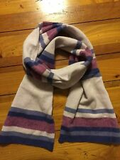 Ralph Lauren Shades Of Purple Stripe Scarf Wool Blend EUC