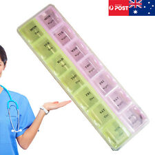 Weekly 7 Days Pill Box Boxes Medicine Tablet Box Case Container Storage Holder