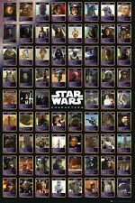 """STAR WARS POSTER """"CHARACTERS"""" LICENSED """"BRAND NEW"""" VADER, ANAKIN LEIA LUKE"""