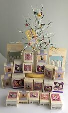 Spring/Easter Hallmark Ornament Tree With 19 Ornaments + 2 display stands NEW