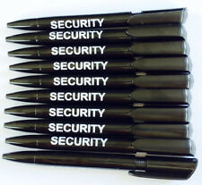 10 x Quality Black Pens Branded Security with Black Ink Security,Prison Office