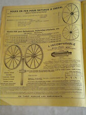 Vintage Catalogue French 1913 Aubry & Borel Metal Wheel makers rare ephemera