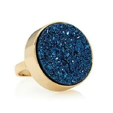 CHRISTINE DARREN GOLDTONE BOLD ROUND DRUSY RING SIZE 8 HSN SOLD OUT