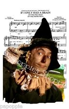 Fabric Block Sheet Music Scarecrow Wizard of Oz If I Only Had a Brain