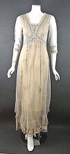 Nataya Dresses on Sale Vintage style Lace Beige,Gray Dress Titanic look Long S