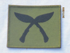 Royal Gurkha Rifles, KUKRIS, TRF, Stoffabzeichen,Patch, oliv