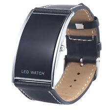 Mens Womens Favorite Arch Bridge LED Digital Date Faux Leather Strap Wrist Watch