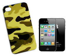 COVER CASE FLIP COMPATIBILE PER IPHONE 4 RIGIDA MILITARE MIMETICA VERDE CHIARO