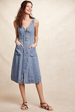 NWT $158 ANTHROPOLOGIE Atoll Denim Dress Holding Horses Size 8 Dress Beautiful!!