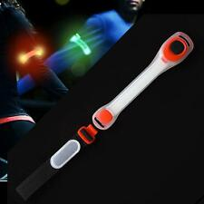 Reflective Safety Belt Arm Strap Night Cycling Running LED Armband Light Red MT