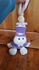 """Dakin 15"""" tall Magician 1993  plush White Bunny Rabbit w/ Rabbit in Hat Mint EUC"""