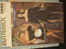 Butterick 5800 Morticia, Vampiress, French Maid Costume Pattern - Size P-L 6-18