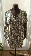 Fab Anokhi East Cream & Black Tunic Style Blouse Top Size 14 VGC