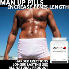 MAN UP Pene Allargamento pillole pastiglie avvertimento EXTRA FORTE BIG HARD pene