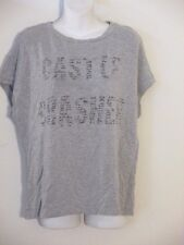 HAUTE HIPPIE Castle Crasher Thick Modal Cap Sleeve Top Sz S NWT $175 Light heath