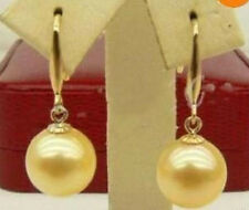 12mm Gold South Sea Shell Pearl Earring