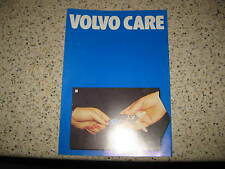 VOLVO 240 260 340 360 740 760 SERIES - c1984 GENUINE VOLVO CARE SERVICE BOOKLET