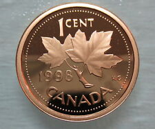 1998 CANADA 1 CENT PROOF PENNY COIN