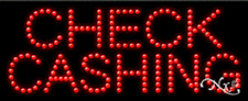 """NEW """"CHECK CASHING"""" 27x11 SOLID/ANIMATED LED SIGN W/CUSTOM OPTIONS 21181"""