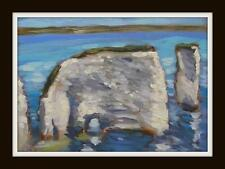 Old Harry Stack : Original Impressionist Oil Painting on Board : Shaun Viney