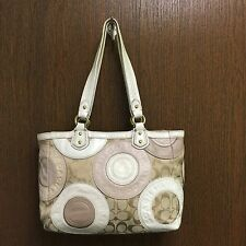 Authentic COACH PIECED PATCHWORK EAST WEST TOTE BAG F19042 (used Cond.)
