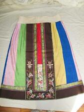 Chinese Silk Wedding? Skirt Embroidered Panel Forbidden Stitch