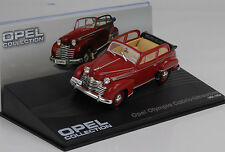 1951 - 1953 Opel Olympia Cabrio-Limousine rot / red 1:43 IXO Altaya Collection