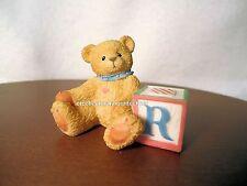 Cherished Teddies Bear With ABC R Alpha Letter Block 1995 NIB