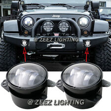 "4"" High Power 30W CREE LED Fog Lamp Kit Front Bumper Driving Light Bulb JK CJ TJ"